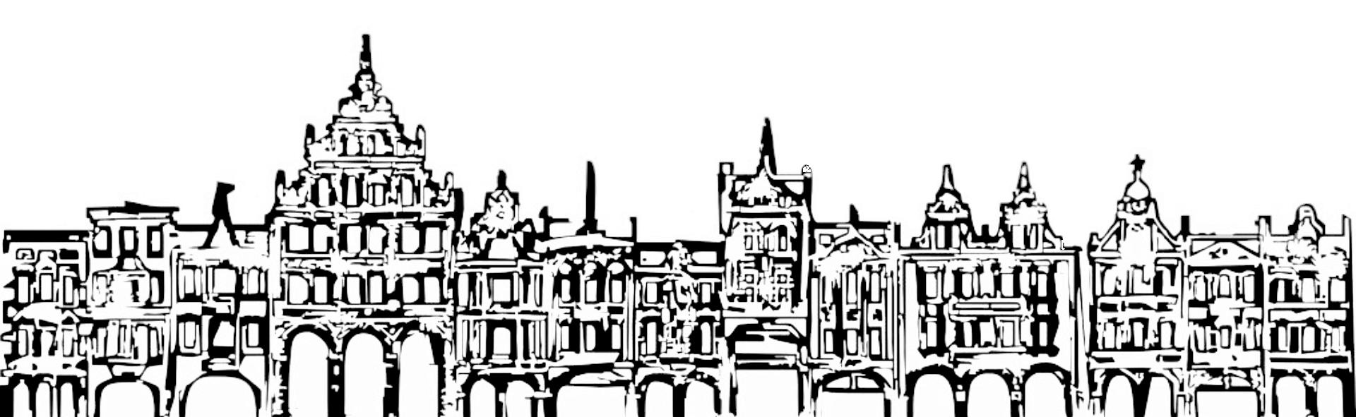 Nagłówek strony przedstawiający historyczne podcienia starego miasta